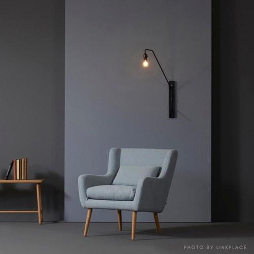 丹麥Sketch 北歐優雅扶手單人沙發 (天藍)
