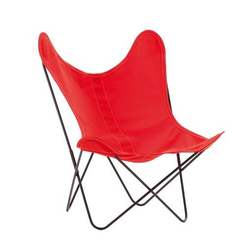 法國Airborne 經典AA布面蝴蝶椅 (紅)