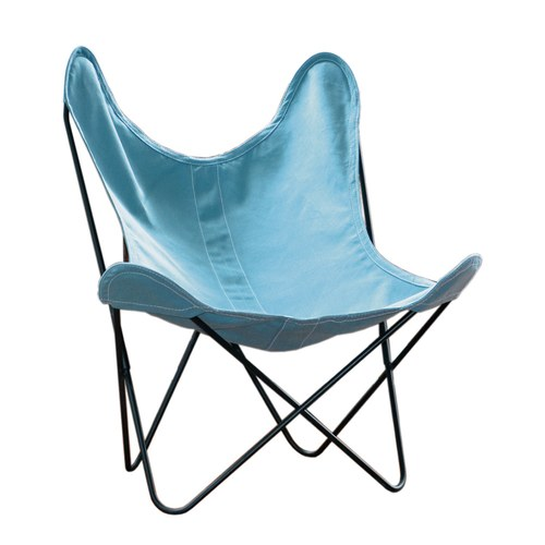 法國Airborne 經典AA布面蝴蝶椅 (藍)