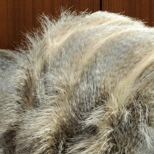 法國EvelynePrelonge 木褐色皮毛被毯