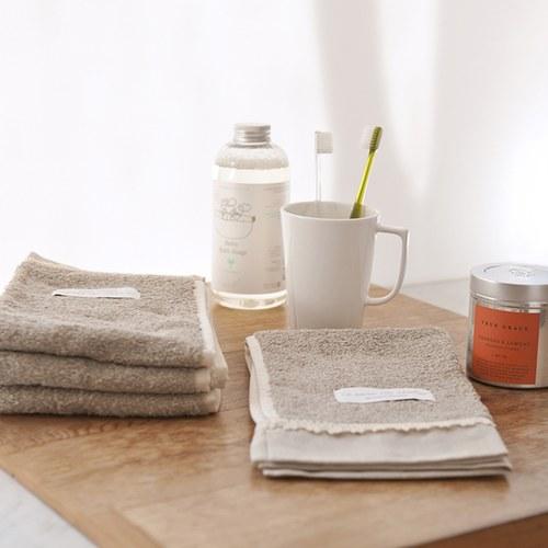 法國LaMaison 花邊系列毛巾 (淺棕、長60公分)