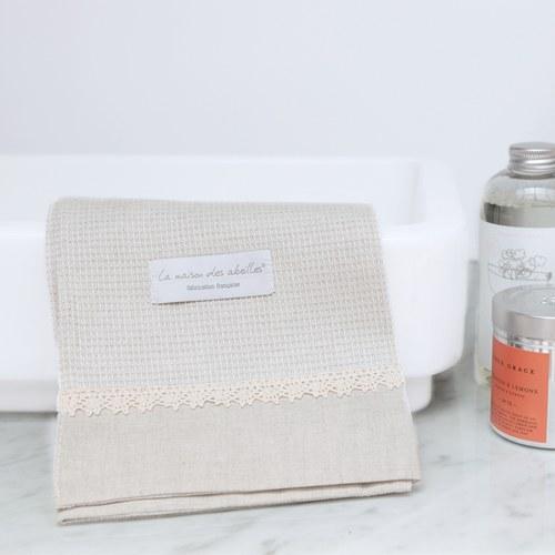 法國LaMaison 花邊系列毛巾 (亞麻、長60公分)