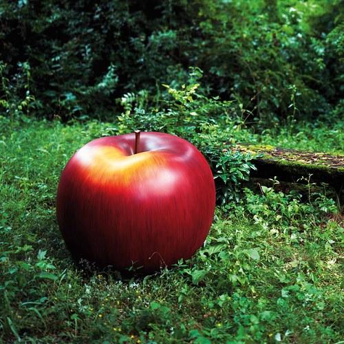 德國BULL&STEIN 消光釉彩蘋果雕塑 (直徑95公分)