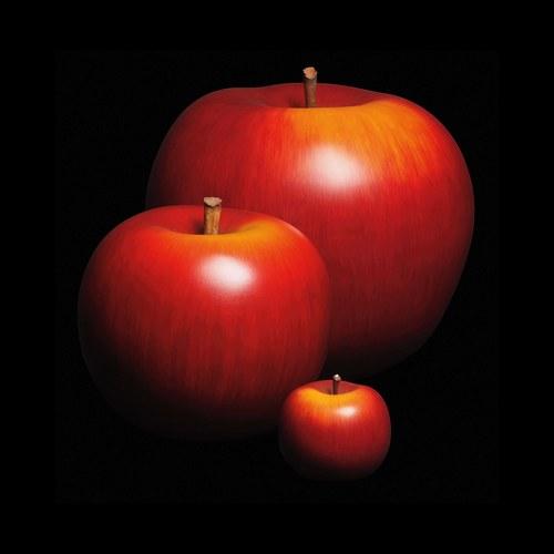 德國BULL&STEIN 消光釉彩蘋果雕塑 (直徑45公分)