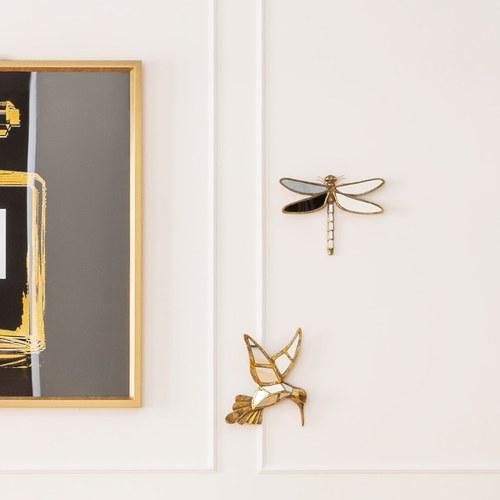 德國KARE 復古鏡面藝術雕塑 (蜻蜓、35公分)