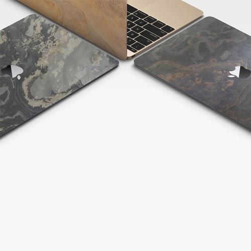 德國Roxxlyn 天然石材13吋筆電貼 (彩礫)