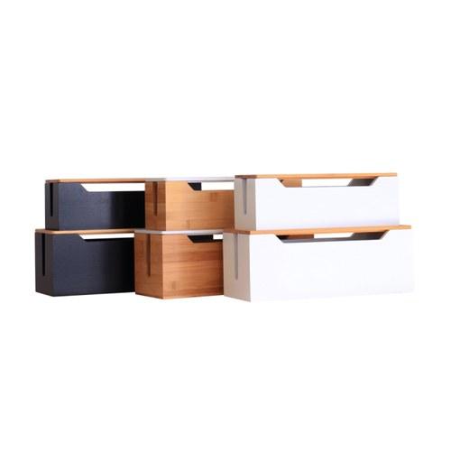 夏馬選物 Ligfe 簡約竹木集線盒組(黑)