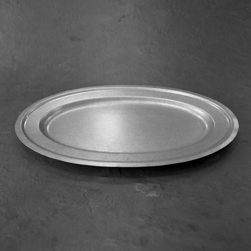 日本Aoyoshi 不銹鋼橢圓形餐盤 (銀、長46公分)