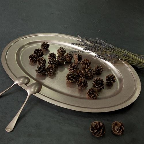 日本Aoyoshi 不銹鋼橢圓形餐盤 (玫瑰金、長56公分)