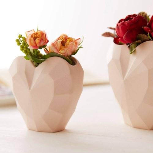 日本Clay 璀璨之心花器 (粉、高12.5公分)