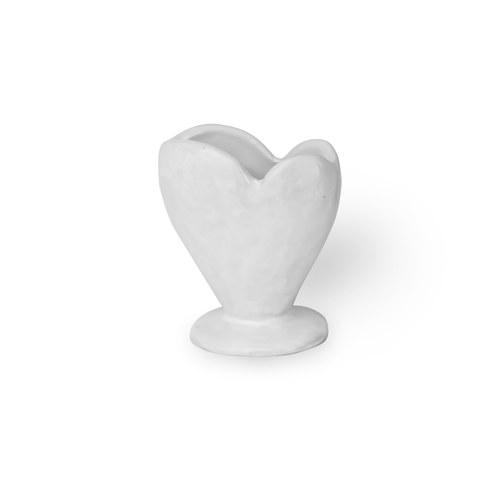 日本Clay 堅定的愛花器 (白灰、高9公分)
