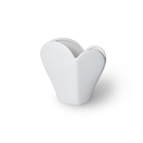 日本Clay 立體愛心花瓣型花器 (白)
