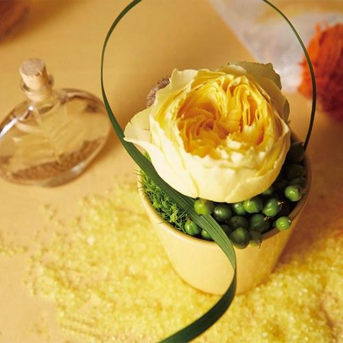 日本Clay 簡約素色圓形花器 (黃、高8公分)