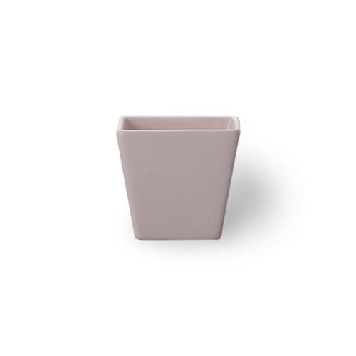 日本Clay 簡約素色梯形花器 (藕粉、高9.5公分)