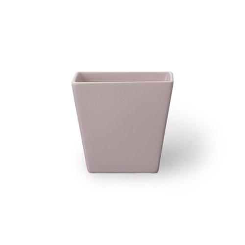 日本Clay 簡約素色梯形花器 (嫩粉、高9.5公分)