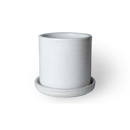 日本Clay 釉光圓柱形花器 (白)