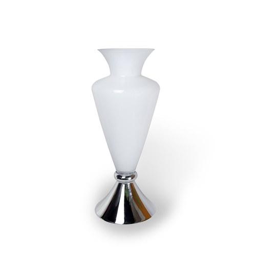 日本Clay 古董風格銀底玻璃花器