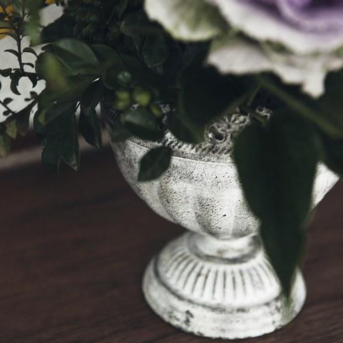 日本Murataya 鐵製仿舊蕾絲花器