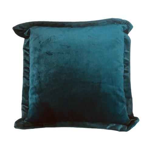 英國Alexander&James 天鵝絨手工靠枕 (藍綠)