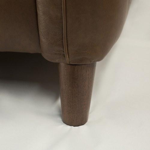 英國Alexander&James 紳士格線皮革三人座沙發 (煙草棕)