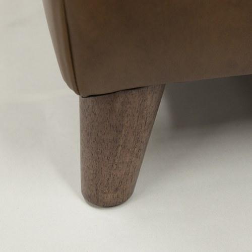 英國Alexander&James 紳士格線皮革椅凳 (煙草棕)