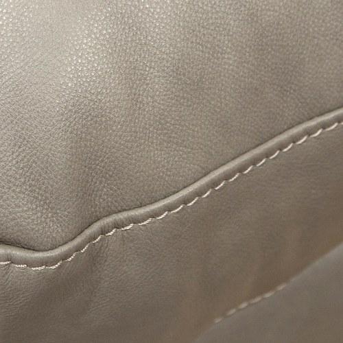 英國 Alexander&James 騎士風休閒皮革L型右向沙發 (灰)