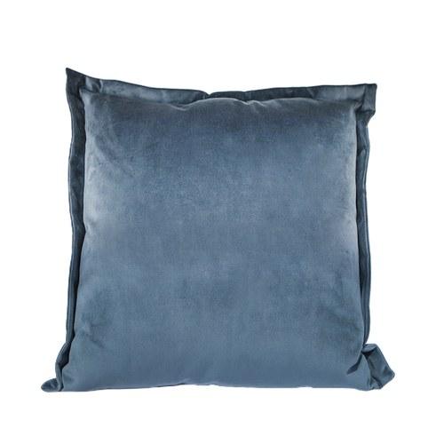 英國 Alexander&James 手工絨布方形靠枕 (軍藍、69公分)