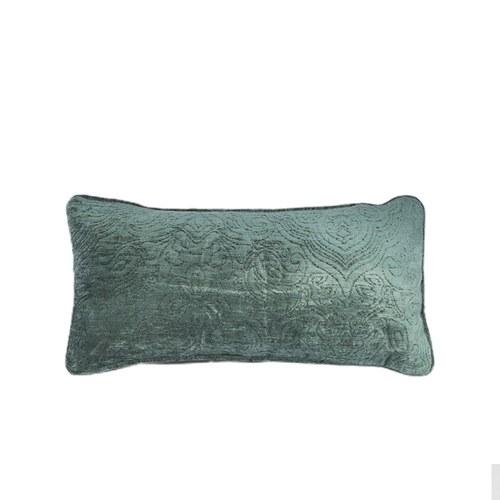 英國 Alexander&James 巴洛克花紋長形靠枕 (綠、50公分)