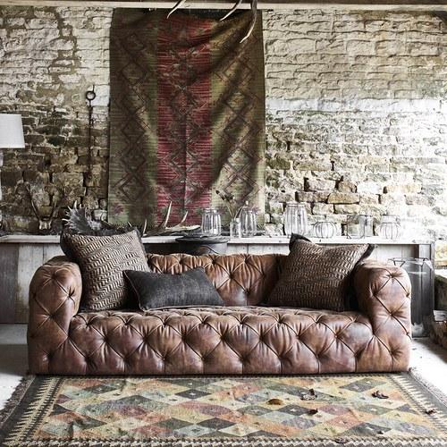 英國 Alexander&James家具 英倫搖滾手工雙人座沙發 含抱枕