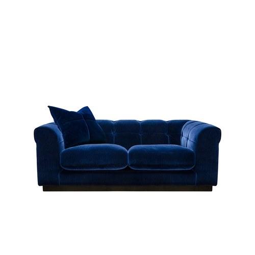 英國 Alexander&James 小說家的詩意日常天鵝絨雙人沙發 含抱枕 (靛藍)