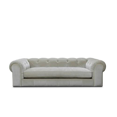 英國 Alexander&James 爵士詠嘆調布面雙人沙發 含抱枕 (奶油白)