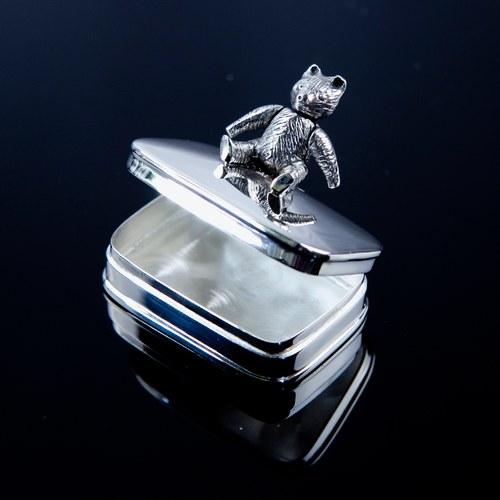 英國Carrs銀器 珍藏彌月禮-小熊紀念盒