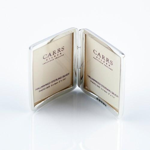 英國Carrs銀器 經典書本型相框
