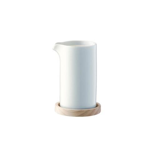 英國LSA 木盤白瓷牛奶罐