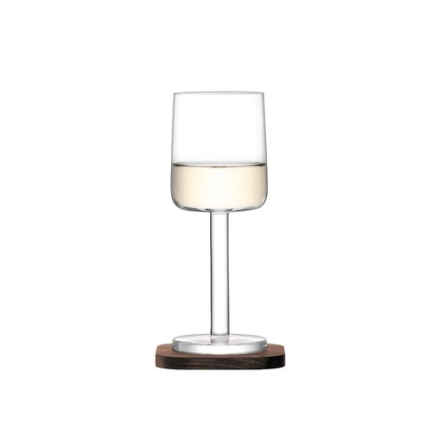 英國LSA 摩登附盤白酒杯2入組