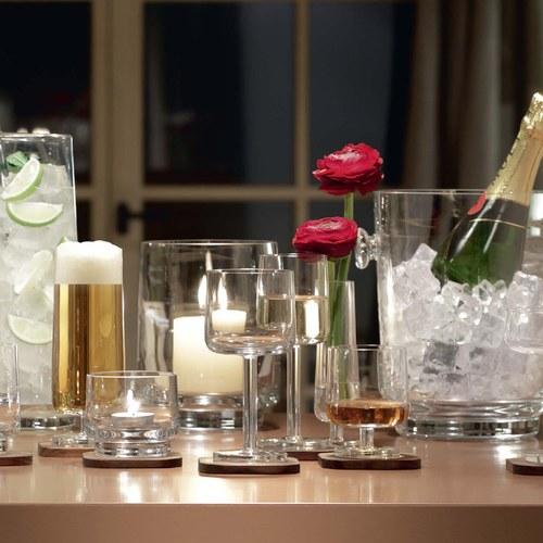 英國LSA 摩登附盤香檳長杯2入組