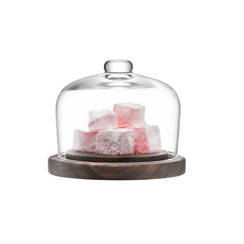 英國LSA 摩登附盤點心玻璃盅 (直徑13公分)
