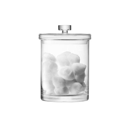 英國LSA 晶透玻璃圓形收納罐 (高22公分)