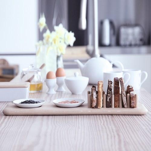 英國LSA 歐式吐司木盤附果醬碟
