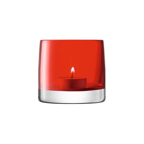 英國LSA 經典玻璃透底燭台 (紅)