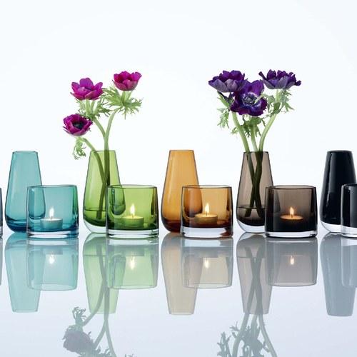 英國LSA 經典玻璃透底燭台 (萊姆綠)