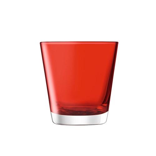 英國LSA 艷彩透底廣口玻璃杯 (紅)