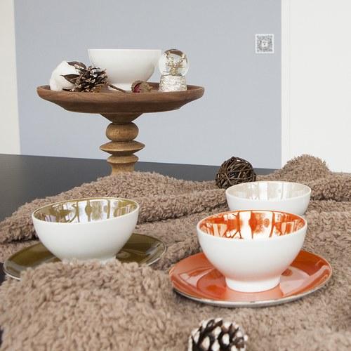 英國LSA 霓彩四色經典瓷碗4入組 (茶棕)