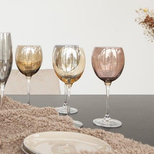 英國LSA  霓彩四色球形紅酒杯4入組 (茶棕)