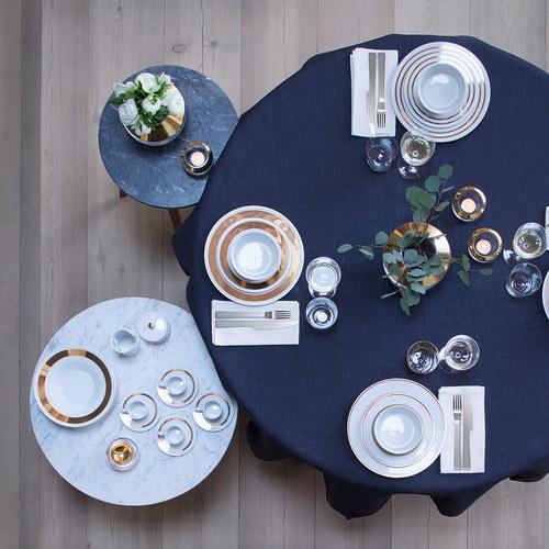 英國LSA 金絲系列Espresso杯盤8入組