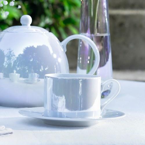 英國LSA 貝殼絢彩咖啡杯盤4入組
