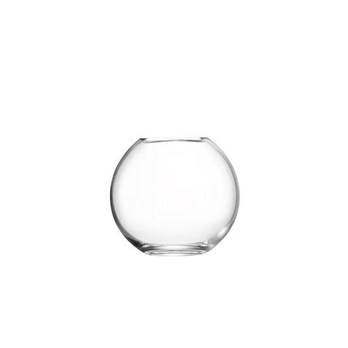 英國LSA 晶透球形玻璃花器(高11公分)