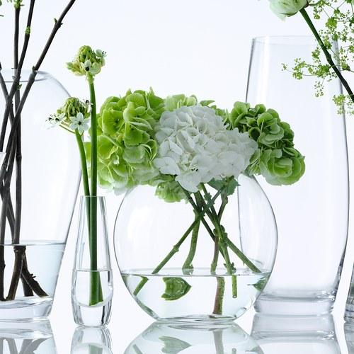 英國LSA 晶透球形玻璃花器(高16公分)