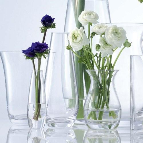 英國LSA 水滴弧底玻璃花器 (清透、高29公分)