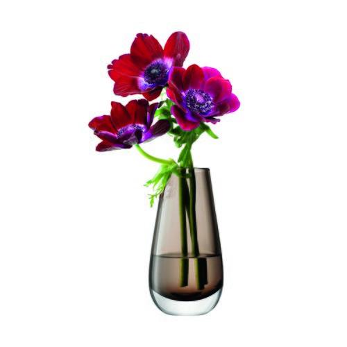 英國LSA 艷彩透底玻璃花器 茶棕